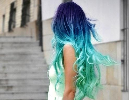 And hair turquoise blonde DIY: How