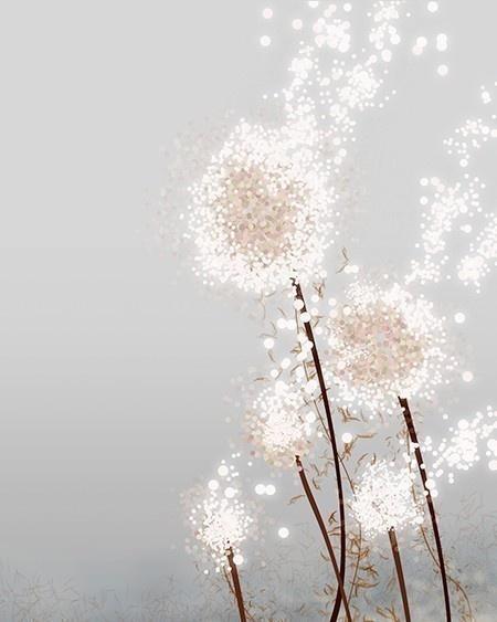 glitter dandelion