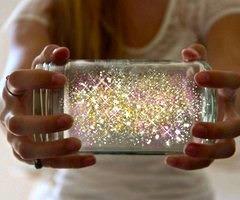 glitter in a jar