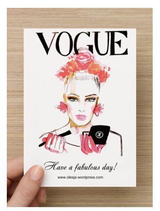 Vogue postcard